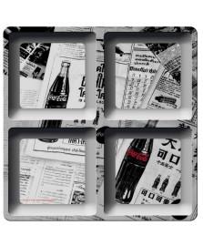 Petisqueira quadrada melamine newspaper coca cola