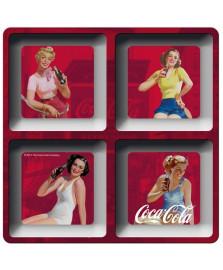 Petisqueira quadrada pin up fd ever coca cola