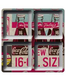 Petisqueira quadrada three bottles coca cola