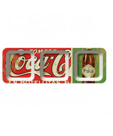 Petisqueira retang. melamina botellita coca cola
