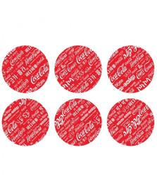 Porta copos 6 peças languages vermelho coca cola
