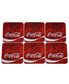 Porta copos 6 peças quadrado wave coca cola