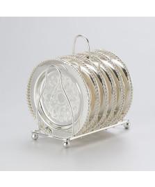 Porta copos com suporte em zamac 10,2 cm lyor