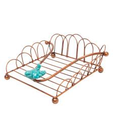 Porta guardanapos de ferro pássaro bronze lyor