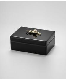 Porta jóia de vidro 18 x 12 cm leopard lyor