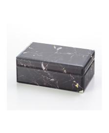 Porta jóia de vidro tipo marmore 21 cm lyor