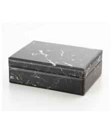 Porta jóia de vidro tipo marmore lyor