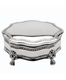 Porta jóias prata velha 16 cm prestige