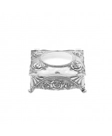 Porta jóias retangular 09x7.5 cm zamac prestige