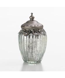 Porta objeto em vidro com tampa 13,5 cm lyor