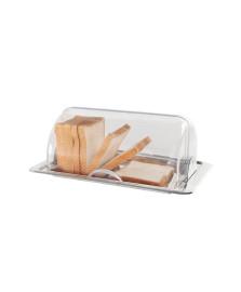 Porta pão com tampa basculante inox lyon brinox
