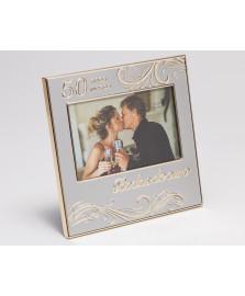 Porta retrato 10 x 15 cm bodas de ouro prestige