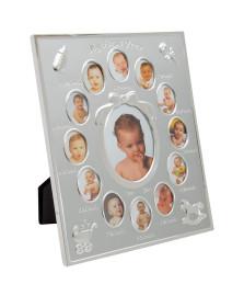 Porta retrato 20 x 25 cm para 13 fotos para bebe