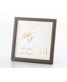 Porta retrato bodas de ouro 13 x 18 cm lyor