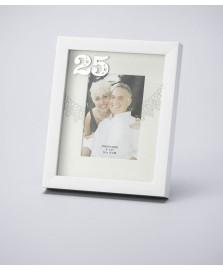 Porta retrato bodas de prata 10 x 15 cm lyor