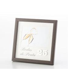 Porta retrato bodas de prata 13 x 18 cm lyor