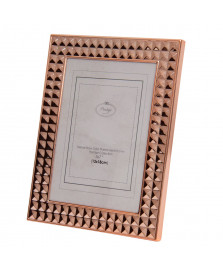 Porta retrato de aço diamond rose gold 13x18 cm