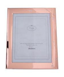 Porta retrato de aço rose gold 20 x 25 cm
