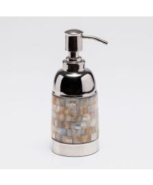 Porta sabonete líquido aço inox madre pérola 17 cm