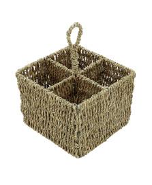 Porta talher quadrado natural mimo