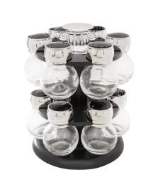 Porta temperos de vidro base giratória 13 peças bon gourmet
