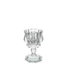 Porta vela de vidro 13.5 cm