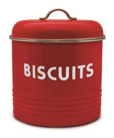 Pote para biscoito galvanizado vermelho week