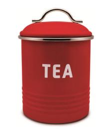 Pote para chá galvanizado vermelho week