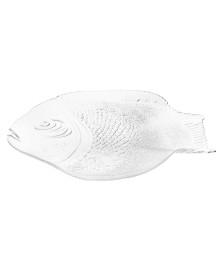 Prato/petisqueira marine em vidro 35.5 x 25.5 cm apae pasabahçe