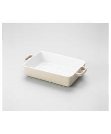 Refratário cerâmica 36.5 x 20.5 cm bege lyor