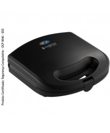 Sanduicheira preta easy toaster cadence 127 v
