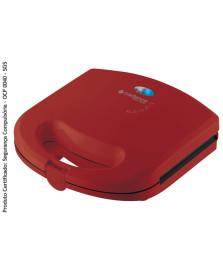 Sanduicheira minigrill vermelha cadence 127v