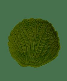 Folha decorativa de ceramica banana leaf verde 23x20x4cm lyor