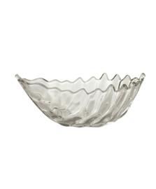 Folha Decorativa de Cristal de Chumbo Leaf 19x8cm Lyor