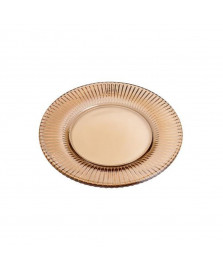 Prato para bolo  em cristal ambar renaissance 31,5 cm lyor