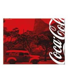 Tabua em vidro landscape peq. vermelha coca cola