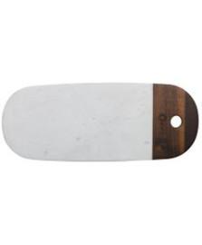 Tabua para servir em marmore e madeira 38,1 cm