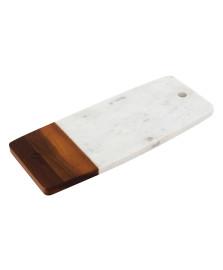 Tábua para servir em mármore e madeira 33 cm oxford