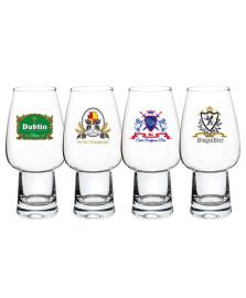 Jogo 04 copos para cerveja stout logos cristal 400 ml bohemia