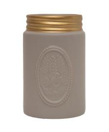 Vaso cinza em ceramica mart