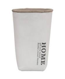 Vaso branco em cimento mart