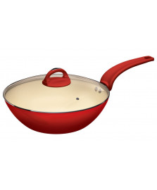 Panela wok intense vermelha euro