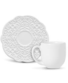 Jogo 6  xícaras café marrakech branco porto brasil