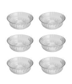 Jogo 06 bowls de vidro angel 11 x 05 cm