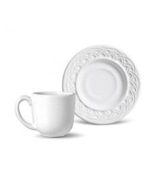 Jogo de xicaras para cafe cestino branco porto brasil