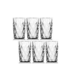 Jogo de 06 copos agua diamante clear 350ml class home