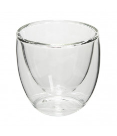 Jogo 02 copos parede dupla em vidro borossilicato 90 ml dynasty