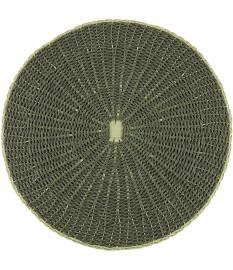 Lugar americano mix rattan (papel e rattan) cinza 38cm royal decor