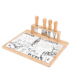 Conjunto para queijo 4 peças cheese design  lyor