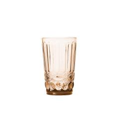 Jogo 06 copos altos de vidro libelula ambar metalizado 350 ml